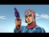 Тизер персонажа Гвидо Миста из аниме JoJo no Kimyou na Bouken: Ougon no Kaze