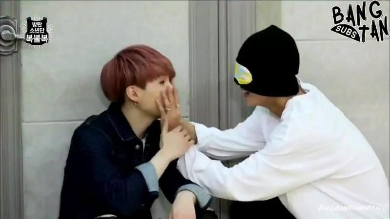 Yoongi enjoyed that Taehyung was blindfolded He took advantage of the situation.
