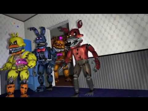 прикол про Фнаф 4 плюштрап vs кошмарных аниматроников