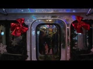 Новогодний поезд Еж3 на Кольцевой линии