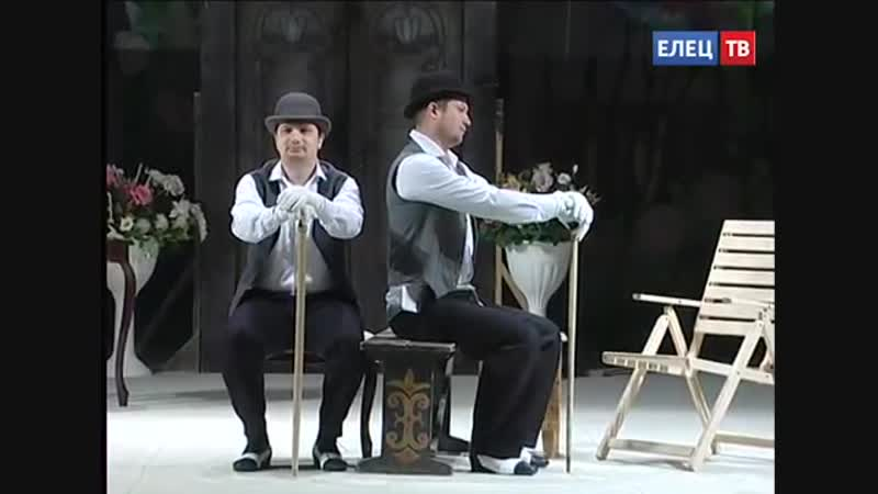 В театре «Бенефис» идут репетиции спектакля «Красавец-мужчина»