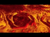 Low 3-D Flyover of Jupiter's North Pole in Infrared