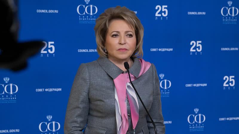 Брифинг В. Матвиенко по итогам 448-го заседания Совета Федерации