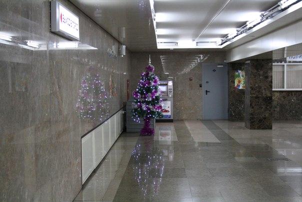 Новый год — не хрен собачий. Ёлочки можно поставить и в вестибюле станции.  Ещё бы украсили её красиво, чтоб не стыдно было фоткаться на фоне.  1—5 января 2018