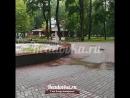 Фонтан в саду Блонье в Смоленске превратился в поливатель дорожек