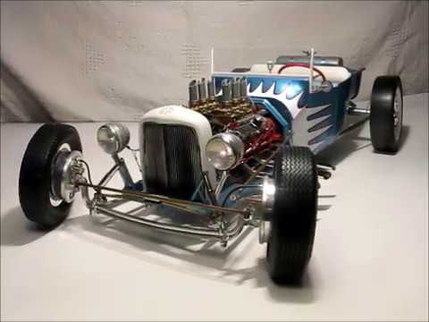 LARGE SCALE 18 MODEL 23 T-BUCKET CUSTOM BUILT MODEL CAR REVELL