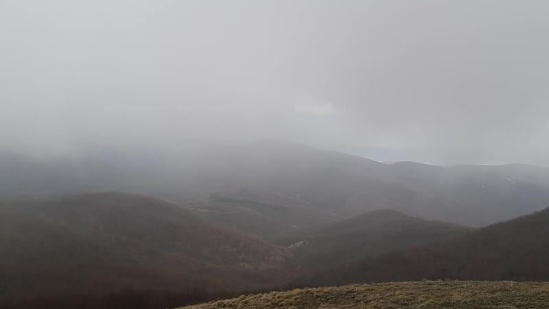 Виды с горы Сахарная Головка (Сори) под дождем)