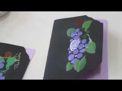「ほのぼの一筆画」あじさいのカード Hydrangea card Watercolor水彩画