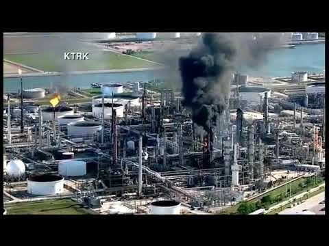 A large fire broke out at the Valero refinery in Texas City, Texas.   Thursday, 19 April 2018
