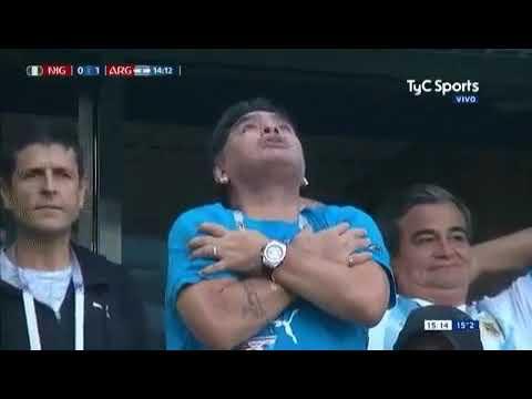 Maradona poseído por el diablo Gol de Messi a Nigeria Mundial Rusia 2018