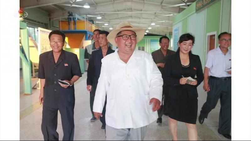 경애하는 최고령도자 김정은동지께서 강원도양묘장을 현지지도하시였다