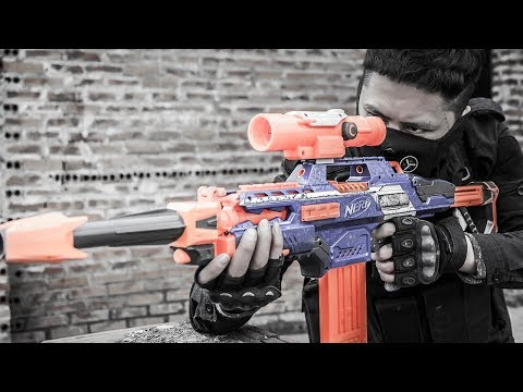 LTT Nerf War : Nerf Guns Battle Between Close Friends | SEAL X Playing Skills MEGA Guns NERF