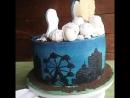 Декор торта в стиле Герои в масках