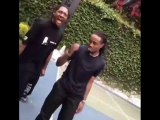 Travi$ Scott и Quavo играют в баскетбол