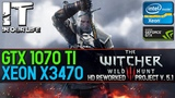 The Witcher 3 HD Reworked Project v.5.1 Xeon x3470 GTX 1070 TI Frame-rate test 1080p