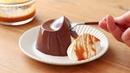 Eggless Jiggly Caramel Cocoa Pudding*without oven オーブンなし!キャラメル・ココアプリンの作り方|HidaMari