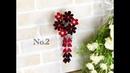 100均材料だけで つまみ細工髪飾り 作り方 kanzashi flower fabric flower DIY 七五三 成人式 卒 269