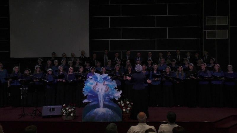 Сводный хор Молитесь, просите, Общецерковное и молодёжное Богослужение 27.05.2018