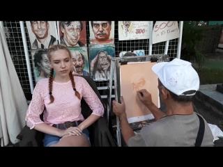 Портрет на память. От Сочинских художников.В парке Ривьера.