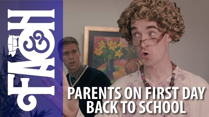 Parents on First Day Back to School - Foil Arms and Hog