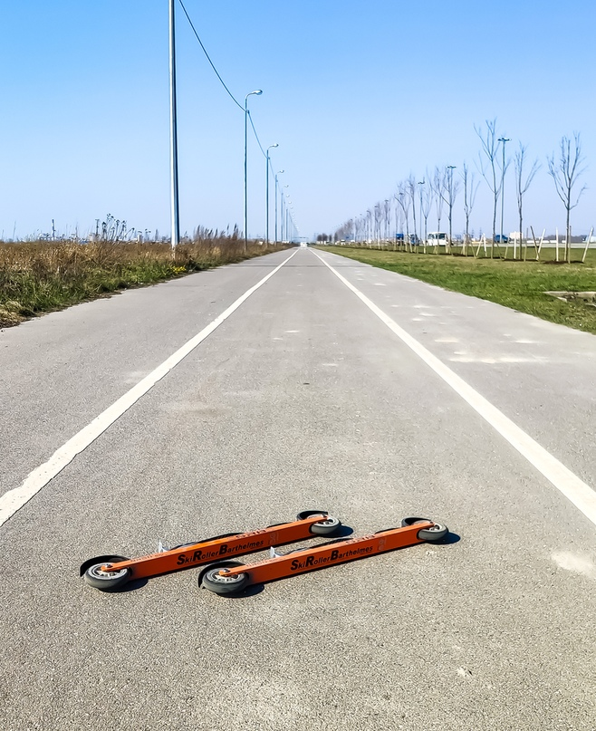 24/04/2019 - 21,5 км лыжероллеры на Колпинской велодорожке в +20 градусов )
