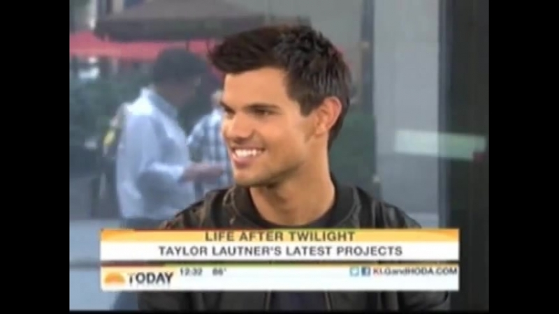 Taylor Lautners@ The Today Show