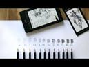 Набор графитных карандашей Castell-9000 8B-2H в метал. коробке - 12 шт.