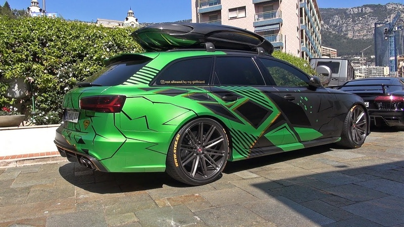Audi RS6 Avant C7 with Roofbox and Akrapovic Exhaust!