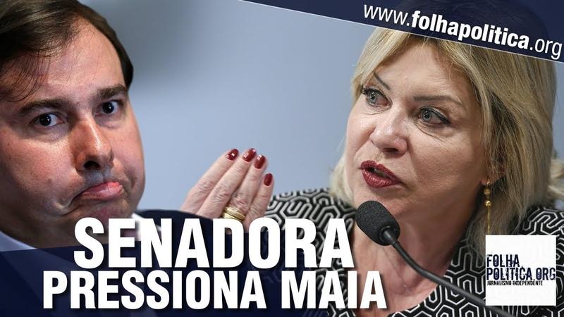 Senadora e ex juíza Selma Arruda do partido de Bolsonaro pressiona Maia e critica ingerência