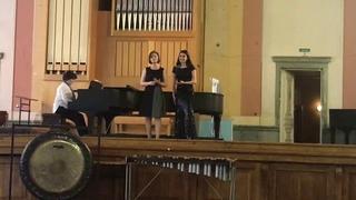 Изабелла Андриасян и Мария Егорова.  П. Виардо Всадники (На тему венгерского танца И.Брамса).