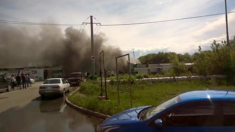 Взрыв на СТО на ул 2-я Солнечная