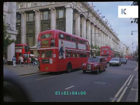 Oxford Street Shoppers in 1995 London in HD