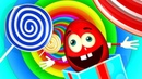 Magic 3D Indoor Playground In Colorful Tunnel - Mr Eggie Learning Colors for kids eggs and surprise.