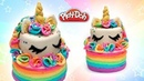 Play Doh Rainbow Unicorn Cake Play Doh for Kids and Beginners DIY Toy Food for Dolls
