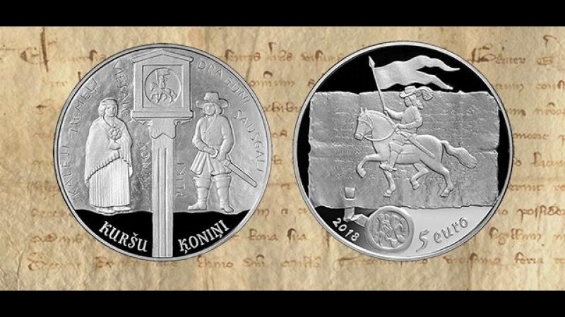 Коллекционная серебряная монета Куршские короли