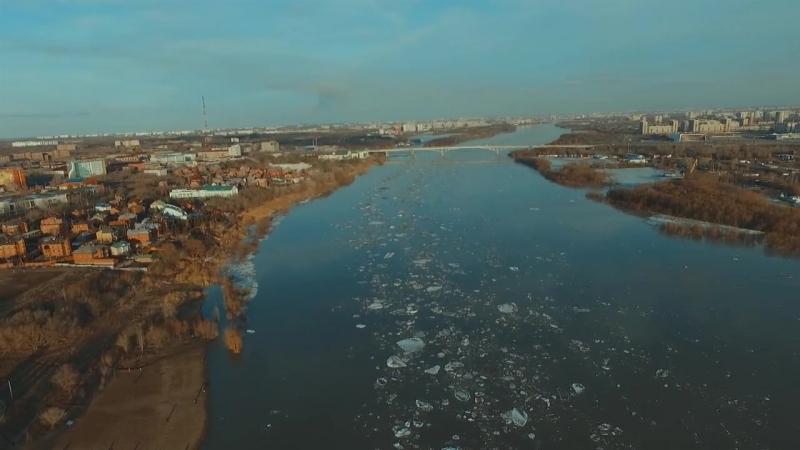 Ice Drift 2018 Omsk (Ледоход в Омске: смотрим кадры с высоты птичьего полёта)
