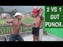 2 VS 1 GUT PUNCH || ANISH FITNESS ||