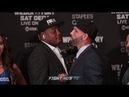 TRAVIS KAUFFMAN GETS ALL UP IN LUIS ORTIZ'S FACE AT THE WILDER VS FURY UNDERCARD PRESS CONFERENCE