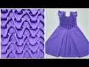 Smocking Frock design making pattern cutting stitching umbrell at home in hindi dress gown stylish
