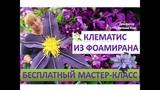 МК Ростовые цветы. Клематис из фоамирана. Clematis of Foamiran Eva