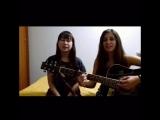 Гареева Алия и Лилия.Bleachers - Like a River Runs (cover)