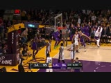 LeBron James with one of the day's best dunks