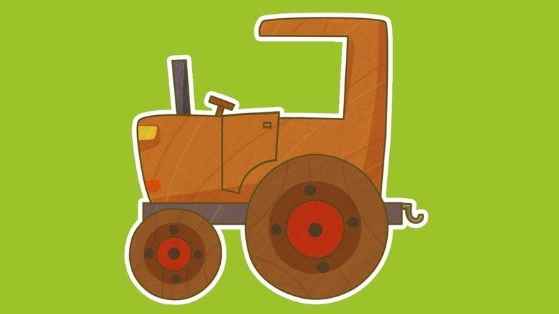 Prabou et les petites voitures. Dessins animés pour enfants: Tracteur