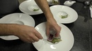 Busy kitchen service at one Michelin star restaurant Pedro Lemos in Porto, Portugal