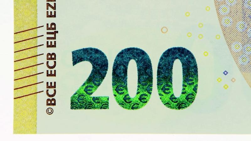 Medidas de seguridad del nuevo billete de 200€