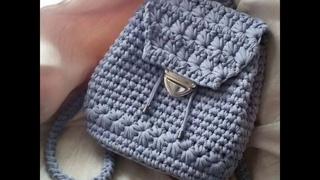 ТОП Вязаные женские сумки из трикотажной пряжи крючком. Идеи для творчества. Подборка фото работ.