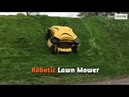 This robotic lawn mower can climb slopes to cut grass