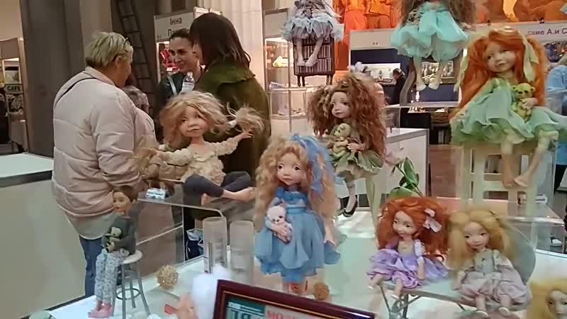 Видео обзор выставки авторских кукол в Киеве. Часть 1