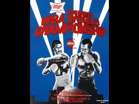 Eusebio Pedroza vs Bernard Taylor – a Draw! This Day October 16, 1982 Featherweight Crown