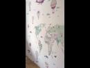 Фотообои с картой мира в комнату девочки